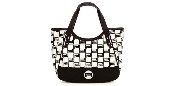 Dámská černobílá vzorovaná kabelka Paris Hilton