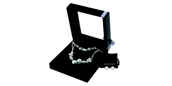 Dámská sada náhrdelníku, náramku a náušnic z oceli Pierre Cardin