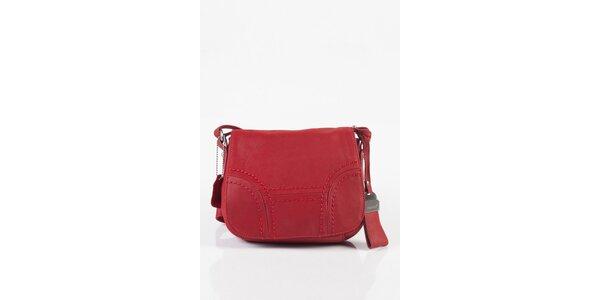 Malá dámská růžová kožená kabelka Fuchsia