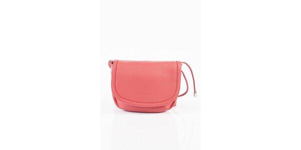 Dámská růžová kožená kabelka Fuchsia