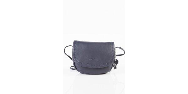 Dámská tmavě modrá kožená kabelka Fuchsia