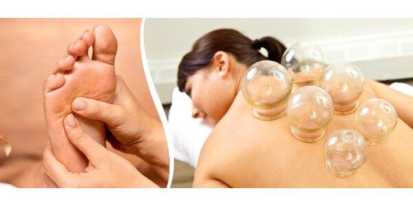 Reflexní terapie včetně baňkování (60 minut)