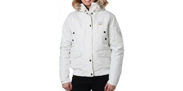 Dámská bílá bunda s kapucí Geographical Norway