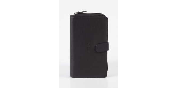 Dámská černá kožená peněženka Fuchsia