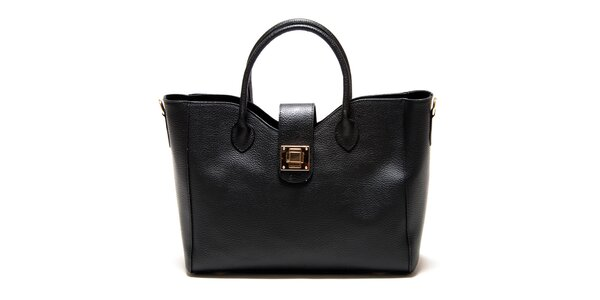 Dámská černá hranatá kabelka se zámečkem Roberta Minelli