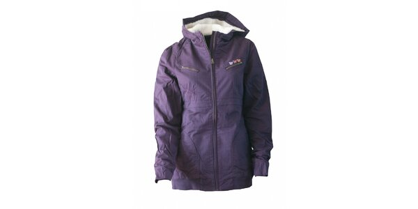 Dámská purpurová bunda Fundango s kožíškem