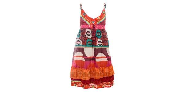 6826c10e1b4b Dámské pestré letní šaty Savage Culture