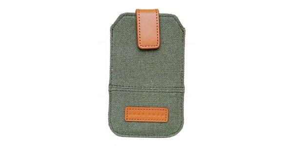 Textilní pouzdro Hugo Boss na mobilní telefon s koženými detaily