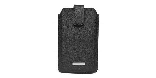 Černé pouzdro Hugo Boss na mobilní telefon - se zapínáním