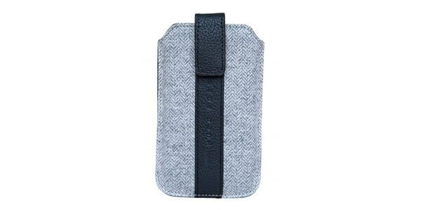 Šedo-černé pouzdro Hugo Boss na mobilní telefon