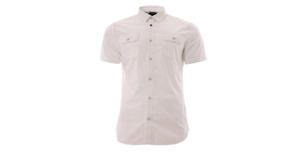 Bílá pánská bavlněná košile Lee Cooper