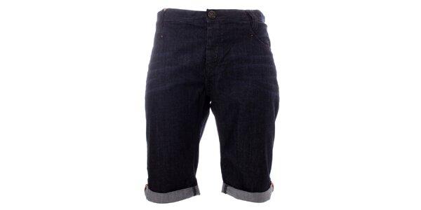 Pánské tmavomodré džínové kraťasy Lee Cooper