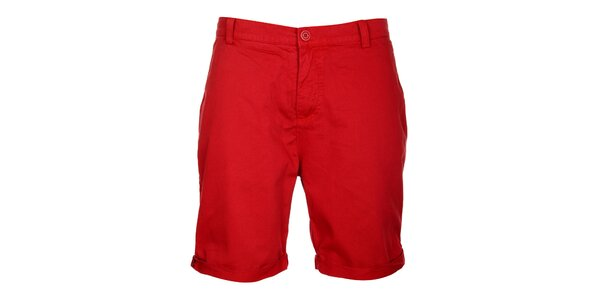Pánské červené šortky Lee Cooper