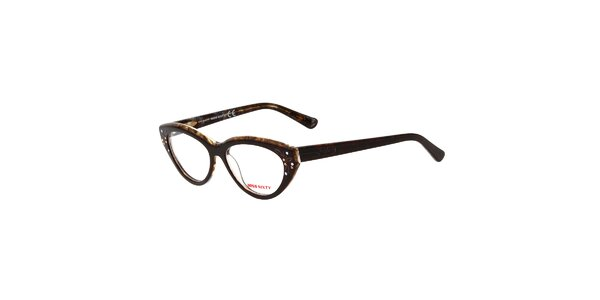 Dámské hnědé retro brýle s kamínky Miss Sixty