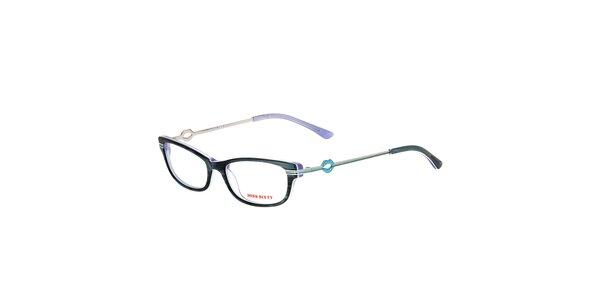 Dámské antracitové žíhané brýle Miss Sixty