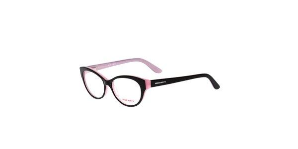 Dámské černo-růžové retro obroučky Miss Sixty