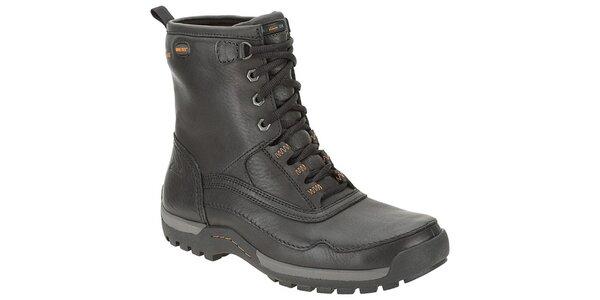 Pánské černé vysoké kožené boty Clarks s GTX membránou