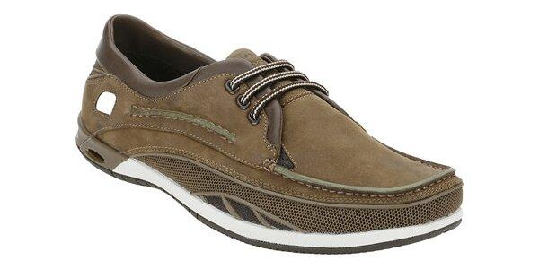 Sportovní hnědé boty Clarks