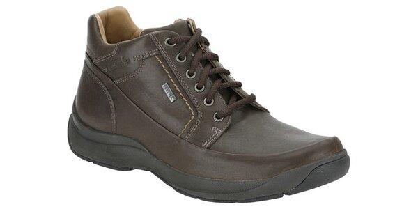 Pánské ebenově hnědé kotníkové boty Clarks s GTX membránou