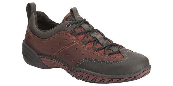 Pánské vínovo-černé sportovní boty Clarks
