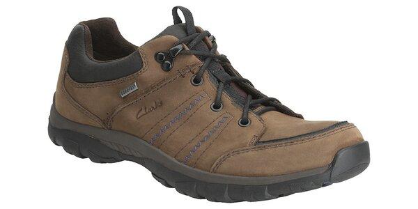 Pánské hnědé sportovní boty Clarks s GTX membránou