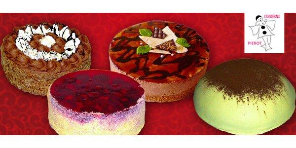 Nadýchaný krémový či ovocný dort z cukrárny Pierot