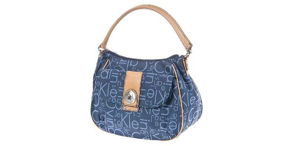 Dámská modrá kabelka s potiskem Calvin Klein