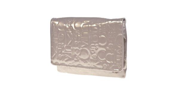 Dámská světlá lesklá kabelka do ruky Calvin Klein