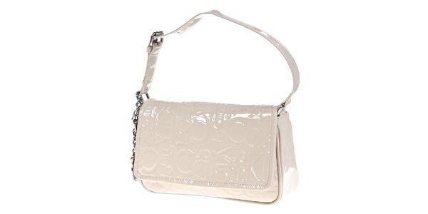 Dámská podlouhlá krémově bílá kabelka Calvin Klein