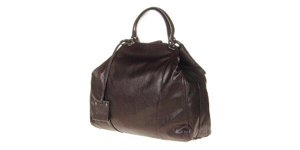 Dámská tmavě hnědá kabelka s pevnými uchy Calvin Klein
