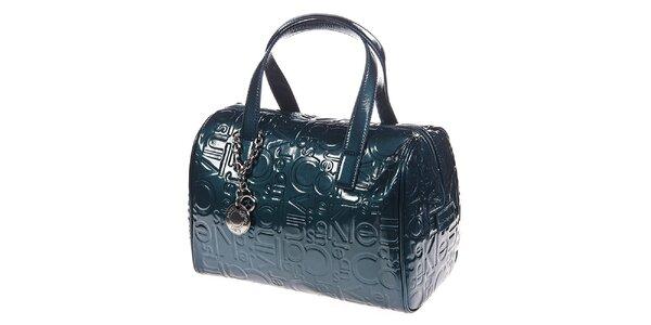 Dámská modrozelená kabelka se vzorem Calvin Klein