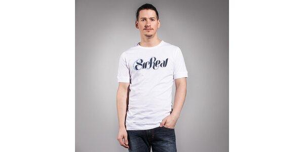 Pánské bílé triko Diesel s černým logem