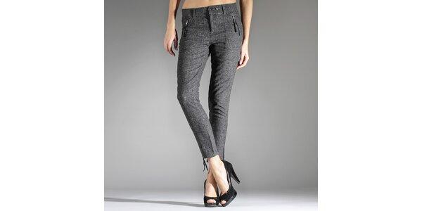 Dámské tmavě šedé melírované kalhoty Diesel