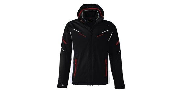 Pánská černá lyžařská bunda s kontrastními prvky Maier