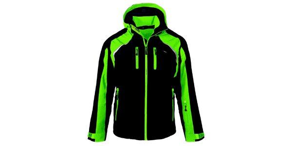 Pánská černo-zelená lyžařská bunda Maier