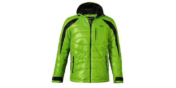 Pánská zelená prošívaná zimní bunda Maier