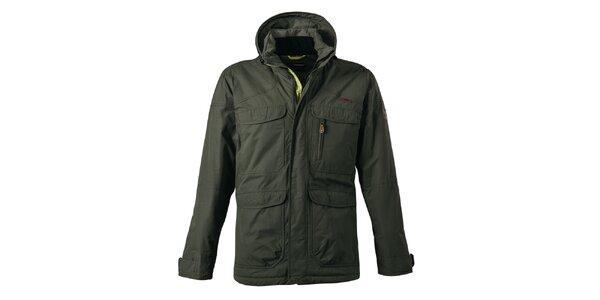 Pánská khaki bunda s našitými kapsami Maier