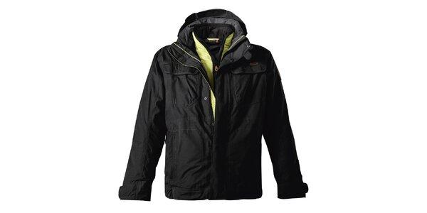 Pánská černá bunda s dvojitým zapínáním Maier