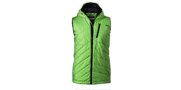 Pánská zelená prošívaná vesta Maier