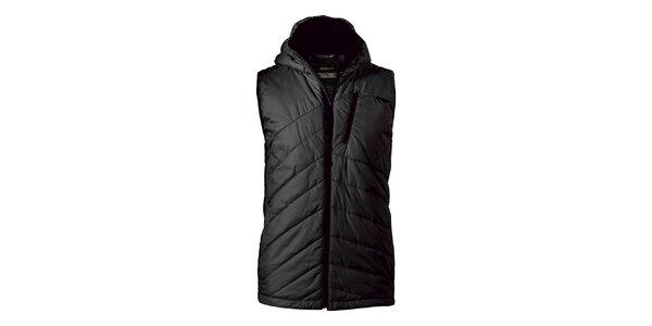 Pánská černá prošívaná vesta Maier