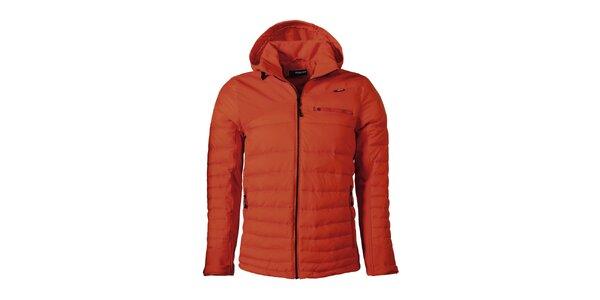 Pánská oranžová prošívaná bunda Maier