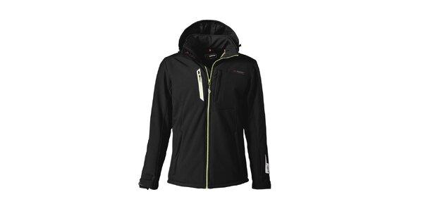 Pánská černá lyžařská softshellová bunda Maier