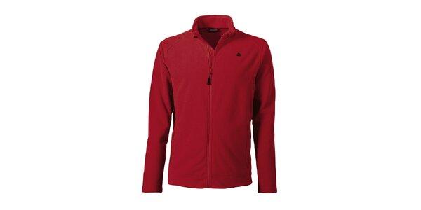 Pánská červená fleecová bunda Maier
