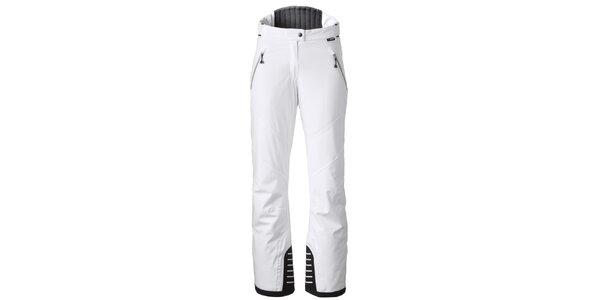 Dámské bílé lyžařské kalhoty s kontrastními lemy Maier