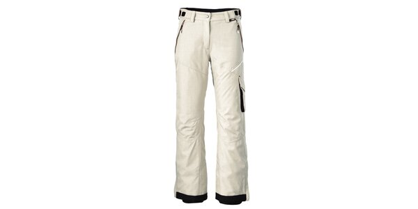 Dámské krémově bílé lyžařské kalhoty Maier