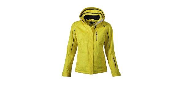 Dámská žlutá lyžařská bunda s potiskem Maier