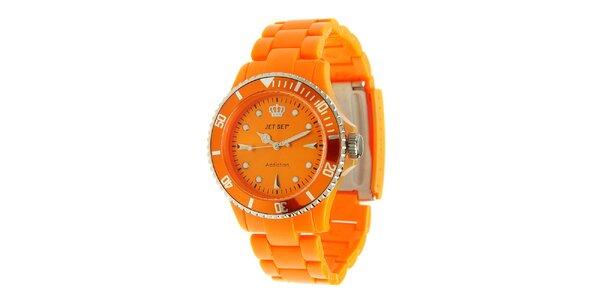 Oranžové hodinky Jet Set
