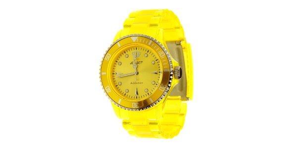 Kanárkově žluté hodinky Jet Set