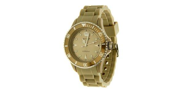 Béžové hodinky Jet Set
