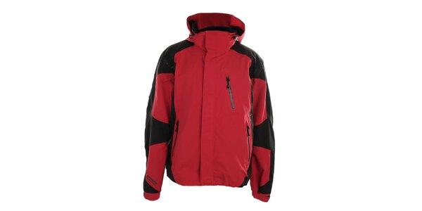 Pánská červeno-černá bunda s kapucí Northland Professional